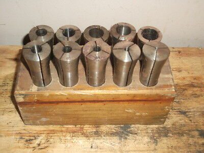 R-8 Collet Set 8 Pieces Bridgeport Taper