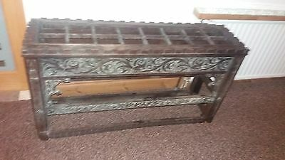 Very Large Very Old Hand Carved Umbrella Stick Stand