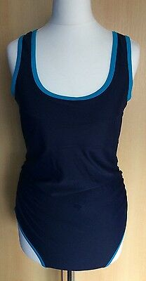 Maternity Blooming Marvellous Navy Swimming Costume Size 14 Ex Cond