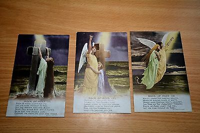 WW1 WWI Sweetheart Type Bamforth Song Card Set, Angle, Rock of Ages
