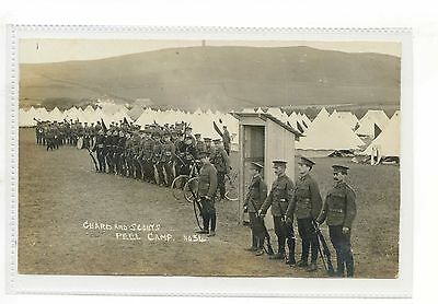 Isle Of Man Military Rppc - Soldiers At Peel Camp With Bicycles