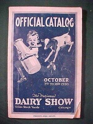 Old 1920 Catalog National Dairy Show Chicago, Il. Jersey Cattle Cows etc.