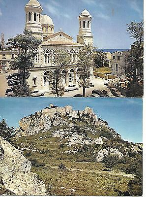 2 Postcards Cyprus, Limassol Cathedral and Kantara Castle