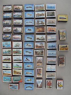 VINTAGE WOODEN MATCHBOX COLLECTION . 61 Collectable boxes from early 1970's (4)