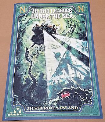 20,000 Leagues Under the Sea - Official Walt Disney Resort Attraction Poster