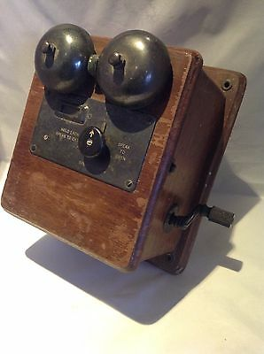 Vintage GPO Wooden Telephone Bell Set / Ringer No.20