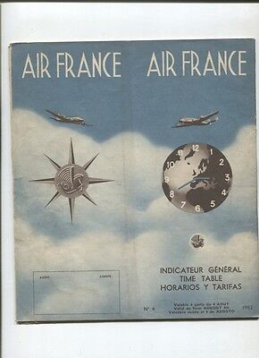 N°5204  /  AIR FRANCE : indicateur général / time table / horarios y tarifas
