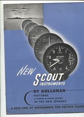 N°5028 / catalogue NEW SCOUT instruments by Kollsman  Cessnas  1946