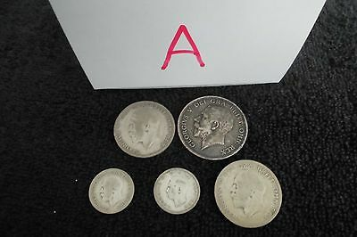Collection of 5 British Silver Coins (A)