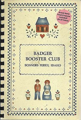 *bonners Ferry Id 1992 High School Badger Booster Club Cook Book *idaho Recipes