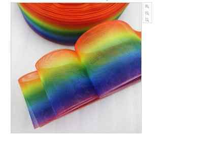 Rainbow Organza Ribbon 38mm wide