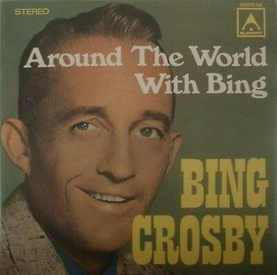 Bing Crosby Around The World With Bing NEAR MINT Summit Records Vinyl LP