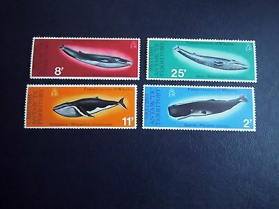 1977 British Antarctic Territory stamps WHALE Conservation Unmounted Mint CV £26