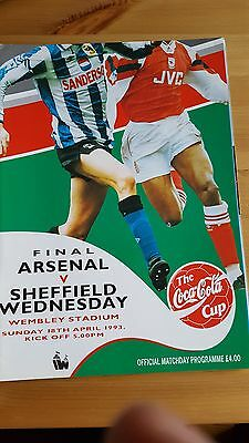 Coca Cola Cup Final 1993 Arsenal V Sheffield Wednesday