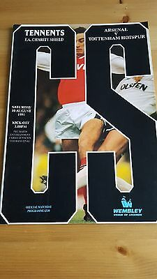 Charity Shield 1991 Arsenal V Tottenham Hotspur - Excellent Conditio