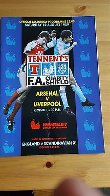 Charity Shield 1989 Arsenal V Liverpool - VGC