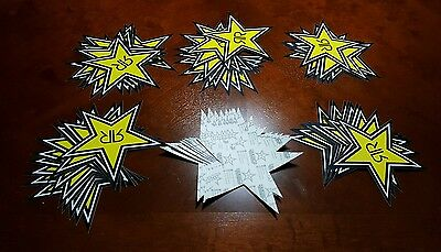 """Rockstar Energy Decal! 7 Inch! Authentic Product! 49 Pcs! """"New"""" 5☆ Item's!"""