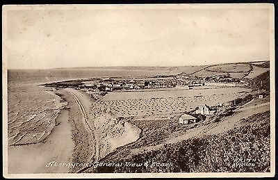 Aberayron, General View And Beach, Cardiganshire. Used. Stamp Removed.