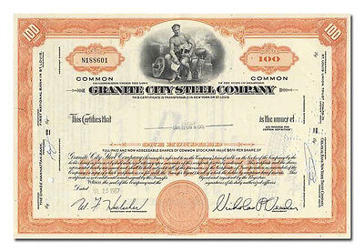 Granite City Steel Company Stock Certificate