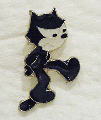 FELIX the CAT - Vintage Enamel Pin - sad or angry face - excellent conditon