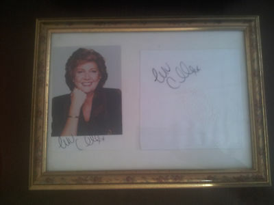 CILLA BLACK Signed Autograph FRAMED Photo AND HANKIE