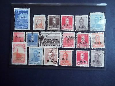 Collection Lot Mint / Used Argentina stamps OVERPRINTED  Ministerial Offices