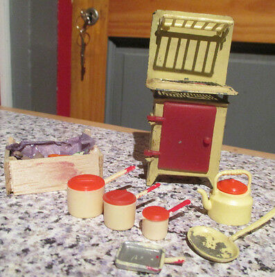 vintage* Barton / Barrett & Sons Dolls' House COOKER - 16th scale/ LUNDBY SIZE