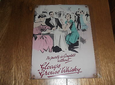 The Famous Grouse Gloags Party Whisky Metal Wall Advertising Sign New