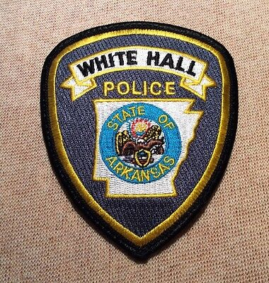 AR White Hall Arkansas Police Patch (4In)