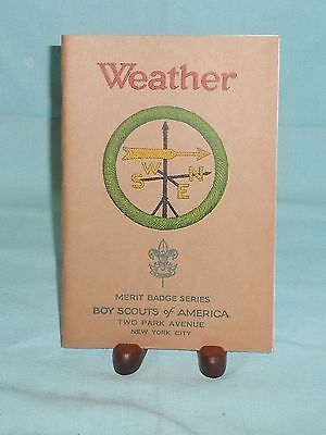 Boy Scouts Of America Merit Badge Series Book Booklet Pamphlet Weather 1930