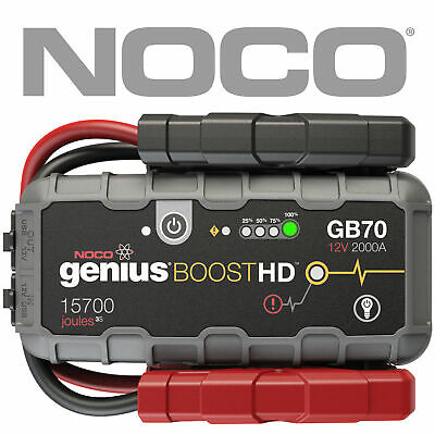 NOCO GB70 GENIUS BOOST 12V Car Ute 4WD Jump Starter Lithium-ion 2000Amp