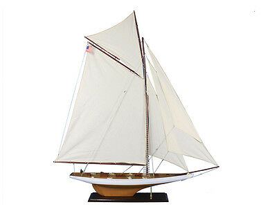 "Columbia 60"" - Large Wooden Model Ship- Model Sailing Ship - Model Sailboat"
