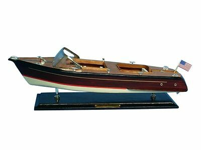 """Chris Craft Runabout 20"""" - Model Speed Boat - Wooden Speed Boat"""