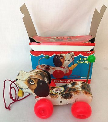 Vintage Fisher Price Little Snoopy c.1966 1977 693 With Box