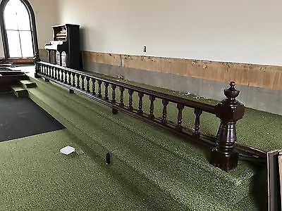 architectural salvage railing, pristine, 18.5 feet long