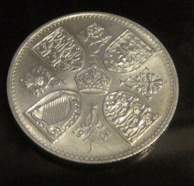 1960 Silver CROWN - Queen Elizabeth II New York Exhibitition Five Shillings
