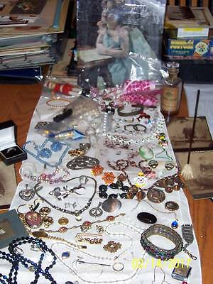 Estate Huge Victorian Deco Vintage Costume/fine Jewelry Lot*sale Weekend Only