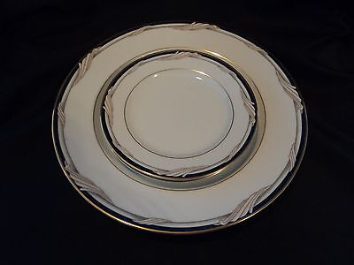 3 Pc's Gorham Golden Swirl- Dinner Plate & Two Bread/butter- Xlnt.