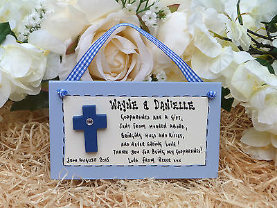 AD10 Personalised Godparents Poem Christening, Baptism, Naming Day gift plaque