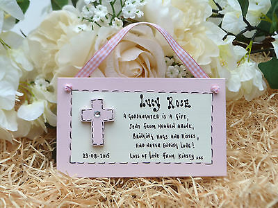 AD24 Personalised Godchild Goddaughter Son  Godparent Christening gift plaque