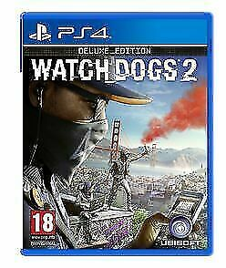 PlayStation 4 : WATCH DOGS 2 - DELUXE EDITION PS4 VideoGames Fast and FREE P & P