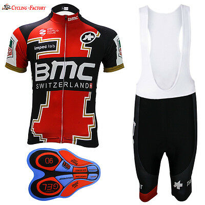 Cycling Jersey  New BMC white bib shorts Team Men's Bicycle Short Sleeve bike