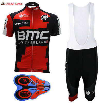 Team Men's Bicycle Short Sleeve 2017 New Cycling Jersey BMC white bib shorts
