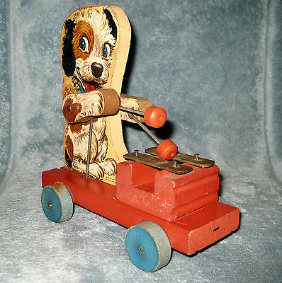 Vintage Fisher Price 1949 Merry Mutt # 473 Pull Toy