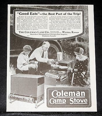 1926 Old Magazine Print Ad, Coleman Camp Stove, Good Eats-Best Part Of The Trip!