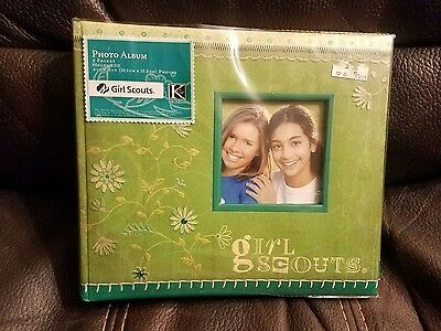 Girl Scout Photo Album K Company New Picture Book Green 1999