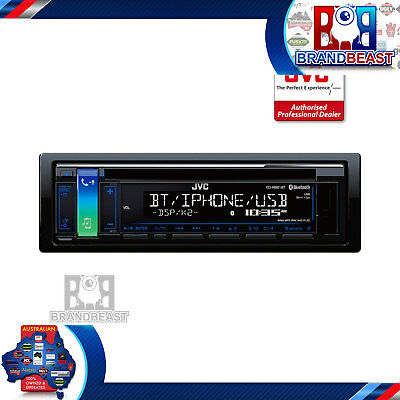 Jvc Kd-R881Bt Single-Din Bluetooth Cd Usb Aux In Android Iphone Muli Color Bt