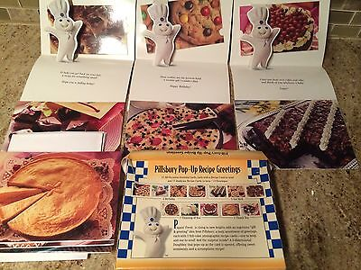 Vintage 1996 Pillsbury doughboy Pop Up Recipe Greetings Cards COLLECTIBLES