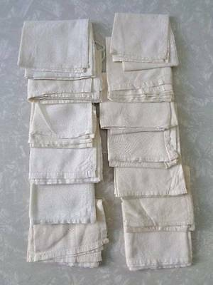 Lot Of 13 Natural/off White Handkerchiefs-Vintage