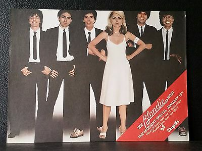 *Blondie* Parallel Lines Promo Poster 1978